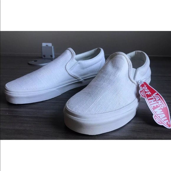 5938421cd4 Vans Men s Classic Slip-On Hemp Linen Skate